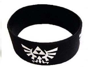 Legend Of Zelda Logo Silicone Rubber Wrist Band